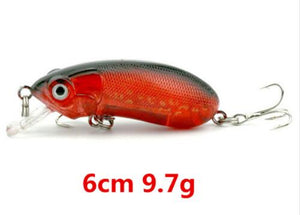 LEO Super Deal Minnow VIB Spoon Fishing Lure with 2 Treble Hooks