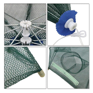 10 Holes Crayfish Net Cast Folding Fishing  Nets Automatic