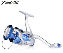 Load image into Gallery viewer, YUMOSHI 12BB 5.5:1 Lightweight Plastic Fishing Spinning Reel