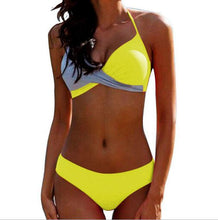 Load image into Gallery viewer, Women's Padded Push-up Bra Bikini Set Swimsuit