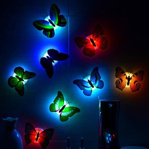 Color Changing Cute Butterfly LED Night Light Home Room Desk Wall Decor - EL Cheapos Stuff