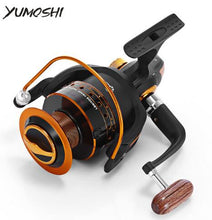 Load image into Gallery viewer, Yumoshi Spinning Fishing Reel 12BB + 1 Bearing Balls 500-9000 Series 5.5:1 Metal Coil Carp
