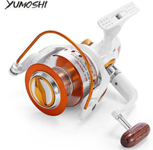 Load image into Gallery viewer, YUMOSHI 12 + 1BB Full Metal Fishing Spinning Reel With Exchangeable Arm Rocker