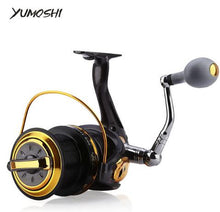 Load image into Gallery viewer, YUMOSHI Fishing Reel 12 + 1 Ball Bearings Aluminum Alloy Spool Coil Wheel  Fishing Reels 8000 / 9000 Series