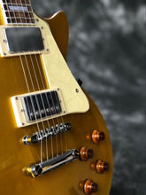 Load image into Gallery viewer, Classic Custom gold top Guitar with Chrome hardware one piece neck one piece body