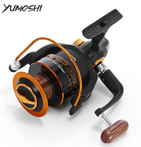 Yumoshi Spinning Fishing Reel 12BB + 1 Bearing Balls 500-9000 Series 5.5:1 Metal Coil Carp