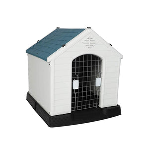 "Medium Plastic Dog House with Door Weatherproof Kennel, 31.5""L x 29""W x 32""H"