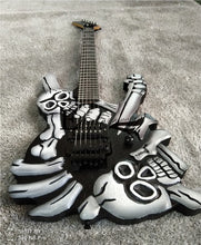 Загрузить изображение в средство просмотра галереи, Eagle. Butterfly, electric guitar hand made metal electric guitar, skull and head hand Made Design