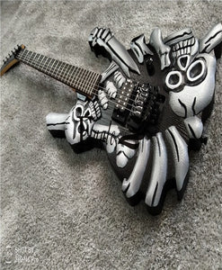 Eagle. Butterfly, electric guitar hand made metal electric guitar, skull and head hand Made Design