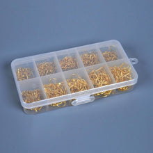 將圖片載入圖庫檢視器 LEO 500pcs/box Multiple Sizes Golden Fishing Hooks Anti-corrosion Flat Head Barbed