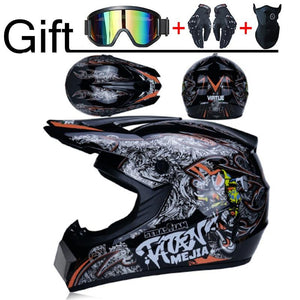 "Professional Motorcycle Helmet Off-road Racing Motocross ""3 Free Gifts Suitable For Kid"" - EL Cheapos Stuff"