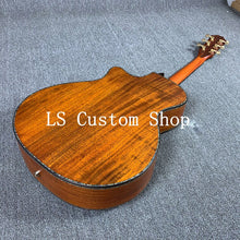 Load image into Gallery viewer, Handmade 39'' Cut a way Top Quality Full Solid Koa Top & back side  Acoustic Guitar Bone Nut & Saddles Grover Tuner Ebony Fingerboard