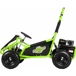 MotoTec Mud Monster Kids Gas Powered 98cc Go Kart Full Suspension Green,Red or Blue - EL Cheapos Stuff