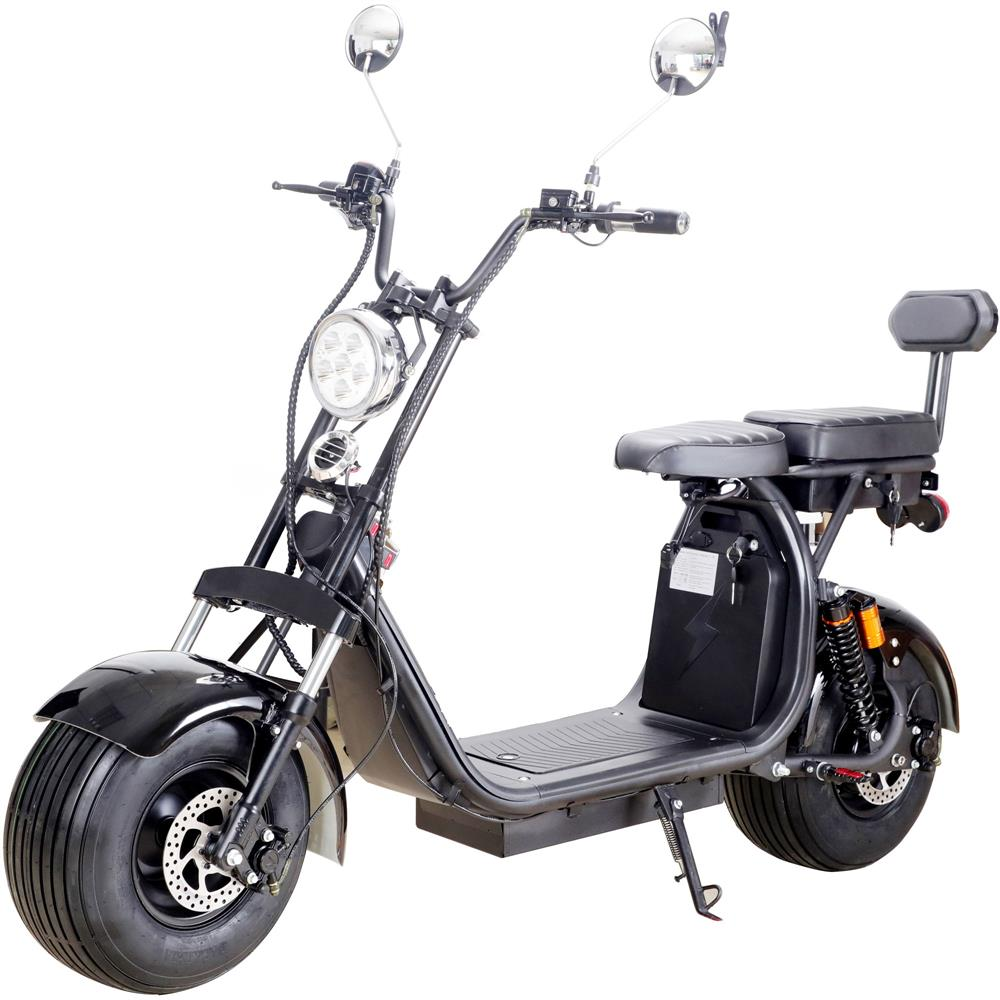MotoTec Knockout 60v 2000w Lithium Electric Scooter Black