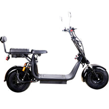 Load image into Gallery viewer, MotoTec Knockout 60v 2000w Lithium Electric Scooter Black