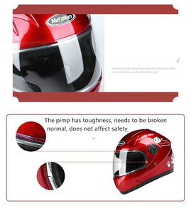 Kids Motorcycle Helmet Full Face protection For Multi Pattern Anti-Vibration Riding - EL Cheapos Stuff
