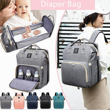 Загрузить изображение в средство просмотра галереи, Diaper Bag Backpack with Changing Bed Baby Crib Diaper Bag Sleeping Bassinet Fashion Mom Shoulder Organizer Bag Travel Accessory
