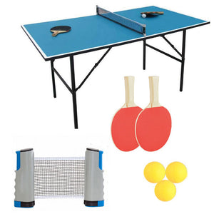 Portable Sport Table Tennis Set Retractable Net for Workout Training Great For Camping