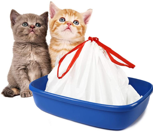 Cat Litter Box Liners large with Drawstrings Scratch Resistant Bags