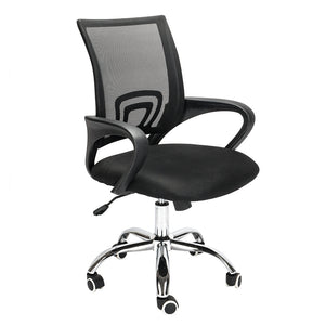 Mesh Back Gas Lift Adjustable Office Swivel Chair Black With Smooth Wheels