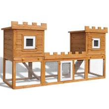 Load image into Gallery viewer, Outdoor Large Rabbit/Chicken Hutch House Pet Cage Double House