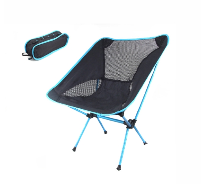 Portable Folding Camping Stool Chair Seat for Fishing Festival Picnic BBQ Beach with Bag Blue