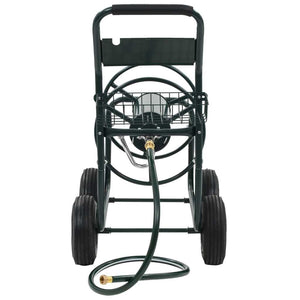 "Garden Hose Trolley with 1/2"" Hose Connector 246ft Steel"