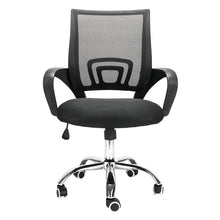 Load image into Gallery viewer, Mesh Back Gas Lift Adjustable Office Swivel Chair Black With Smooth Wheels