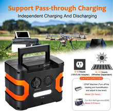 Load image into Gallery viewer, 330W Portable Power Station, Solar Generator  Backup Battery Emergency Power Supply with 110V AC Outlets,  for Camping