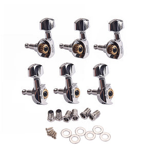 6Pcs / Set 3R3L  Guitar open String Tuning Pegs Keys Machine Heads Tuners