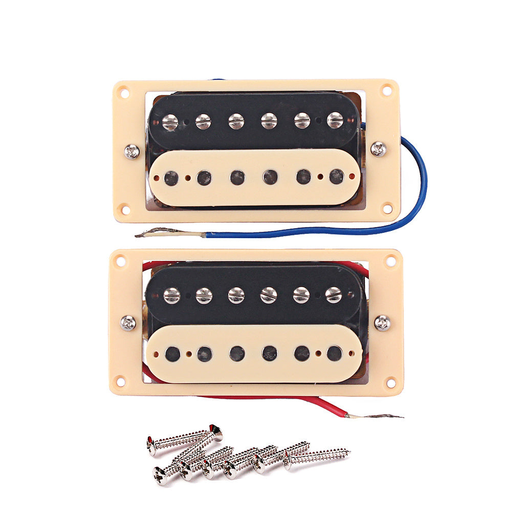1 Pair Metal Classic Metal Humbucker Electric Guitar Pickup for Rock Hip-pop