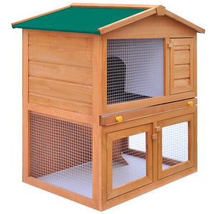Outdoor Rabbit/Chicken Hutch Small Animal House Pet Cage 3 Doors Wood