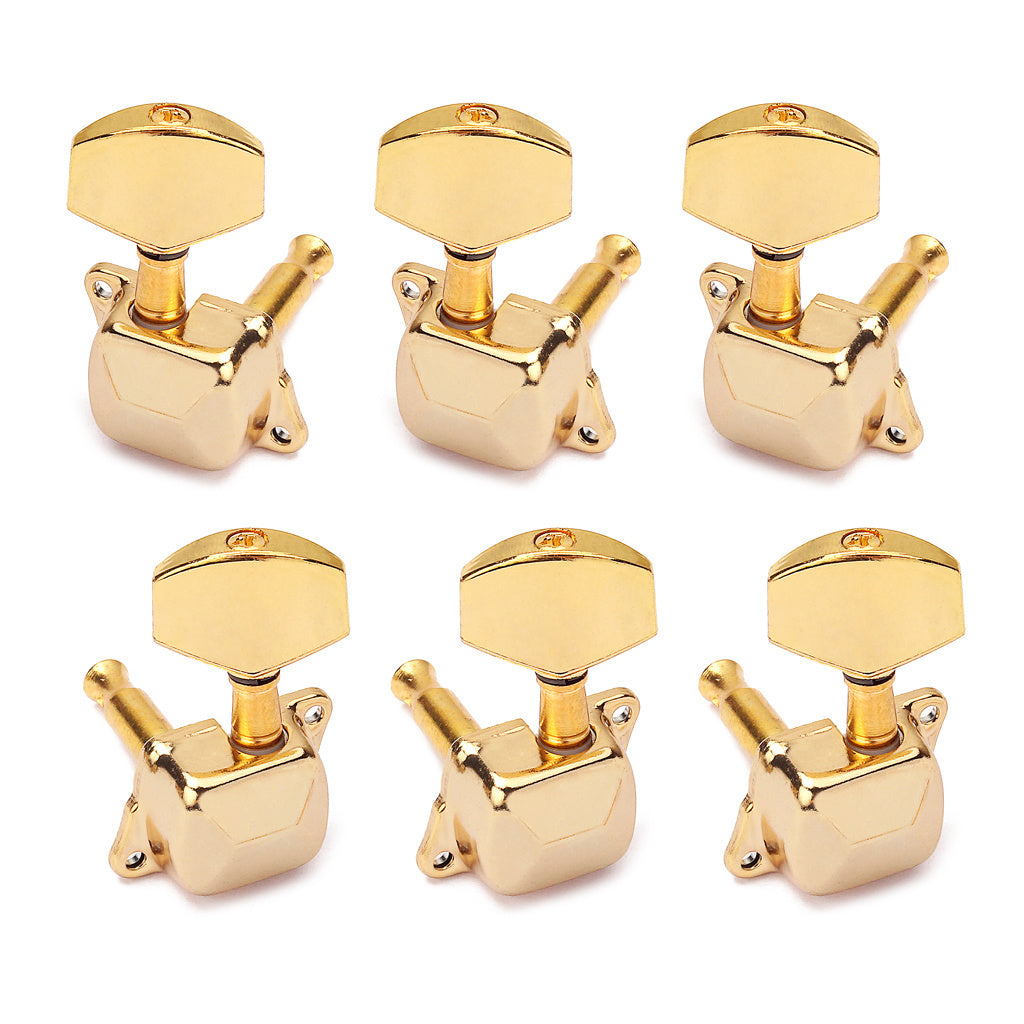 1 Set Semiclosed Electic Guitar Bass String Tuning Pegs Locking Tuners Machine Heads 3L3R