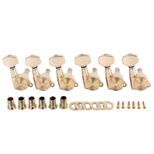 Load image into Gallery viewer, A Set 6 Pcs Gold Locked String Tuning Pegs key Tuners Machine Heads For Acoustic Electric Guitar Lock Schaller Style