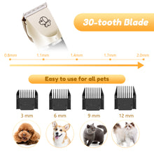 Load image into Gallery viewer, Low Noise Rechargeable Cordless Dog Clippers
