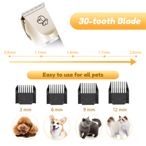 Low Noise Rechargeable Cordless Dog Clippers