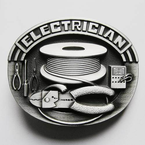 New Vintage Trades Tradesman Electrician Tool Belt Buckle