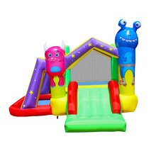 Load image into Gallery viewer, Monster Inflatable Bounce House for Kids with Blower Jump and Slide Bouncy Castle with Ball Pit for Party