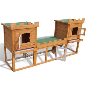 Outdoor Large Rabbit/Chicken Hutch House Pet Cage Double House