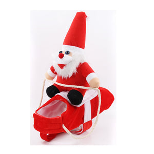 Santa Claus Riding Costume Designed For Dogs Cats