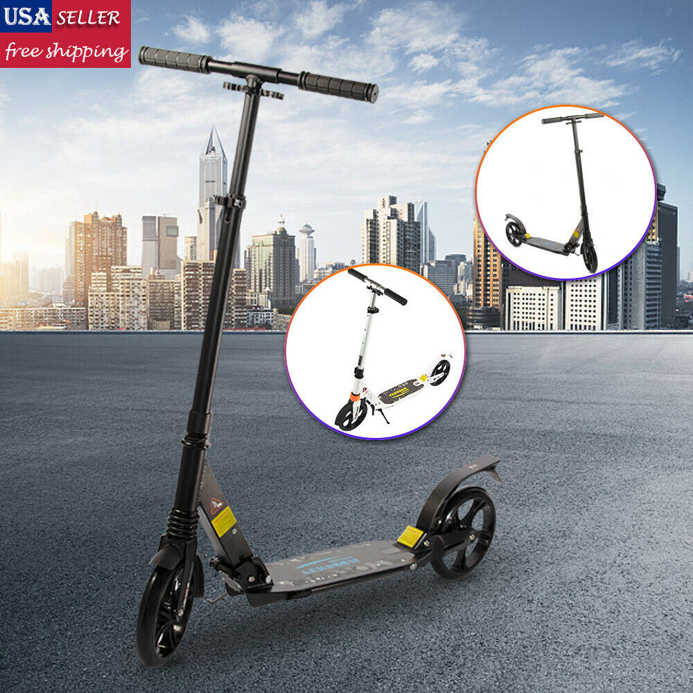 Folding Kick Scooter Outdoor Adult Ride Portable Lightweight Adjustable 2 Wheels