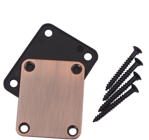 1 Set Electric Guitar Neck Plate & 4 Screws For Strat Tele Style Electric Guitar