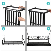 Загрузить изображение в средство просмотра галереи, Metal Porch Swing, Heavy Duty Steel Patio Porch Swing Chair for Outdoors, Weather Resistant Swing Chair Bench