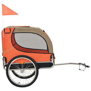 Dog Trailer Orange and Brown