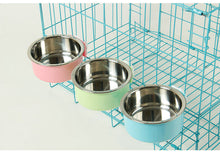 Load image into Gallery viewer, Hanging Stainless Steel Water Bowl for Dogs, Cats, Birds And Small Animals