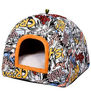 Printed Comfortable Warm Dog and Cat Sleeping Bed - EL Cheapos Stuff