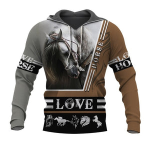 Men Or Women beautiful horse racing limited edition 3d zipper hoodies long sleeve Sweatshirts jacket pullover