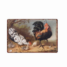 Load image into Gallery viewer, Happy Chickens Lay More Eggs Metal Sign