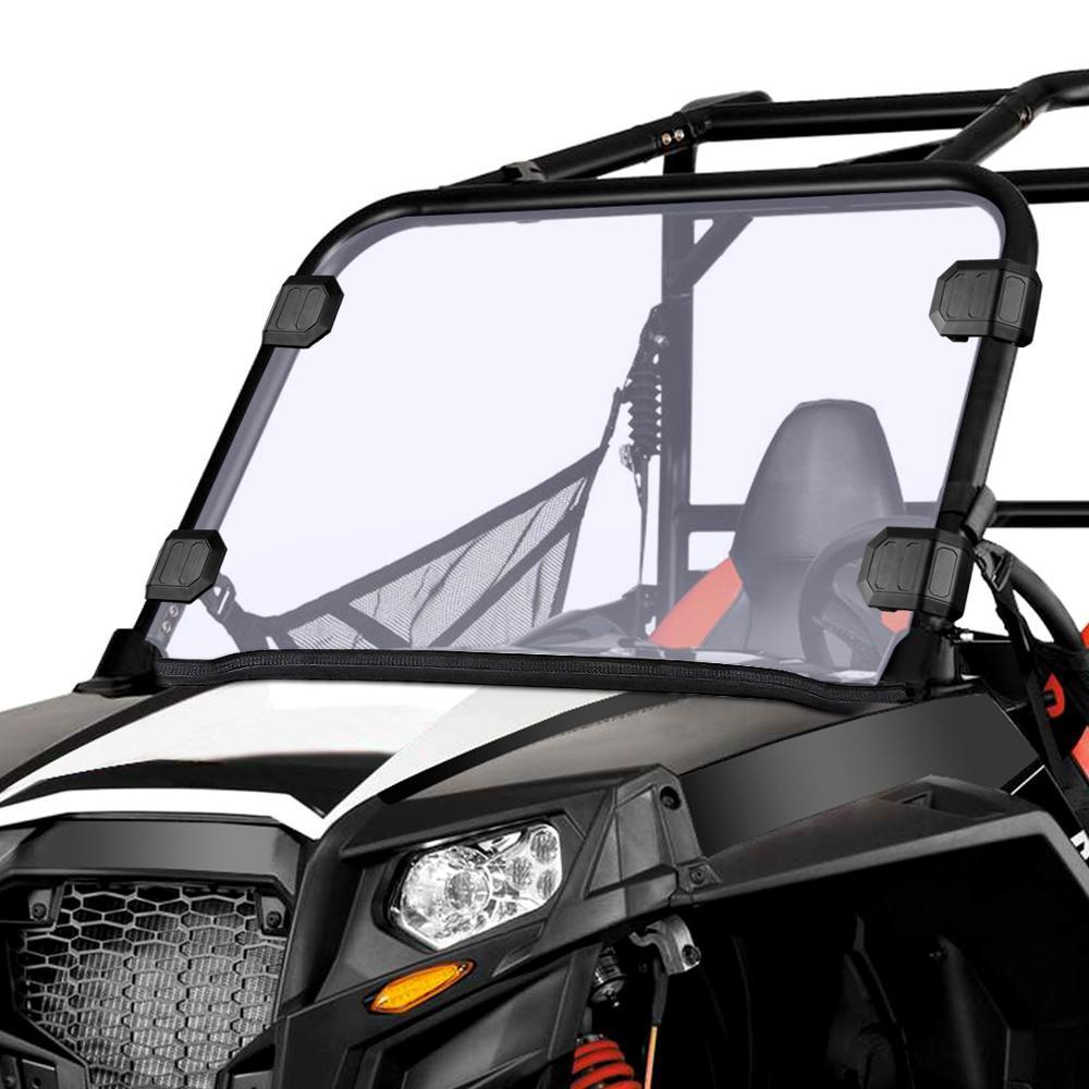 UTV Front Full Windshield Scratch Resistance Windscreen PC for Polaris RZR 570 Midsize 800 S 800 XP 900 & More Thick - EL Cheapos Stuff