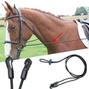 9.8 feet Portable Black Horse Reins